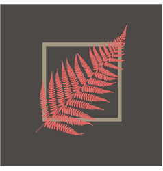 Fern leaf background tropical botanical card vector