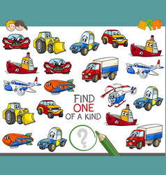 Find one a kind activity game vector
