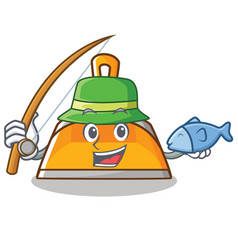 fishing dustpan character cartoon style vector image