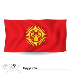 Flag of Kyrgyzstan vector image