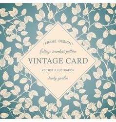 Foliage vintage frame vector image