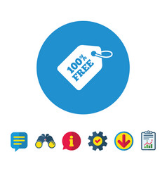 free tag icon shopping special offer sign vector image