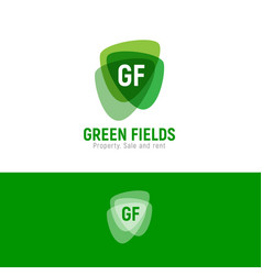 G and f green fields property logo arms vector