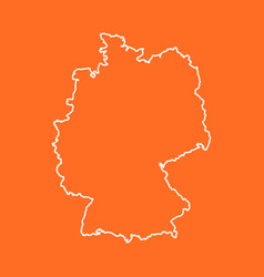 Germany map in line style on isolated background vector