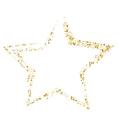 golden star banner on white background gold vector image
