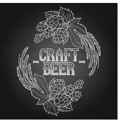 Graphic hop and malt vector