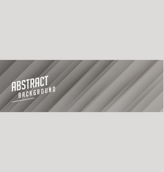 gray banner design with stripe shape pattern vector image