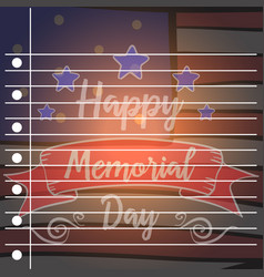 Happy memorial day of greeting card vector
