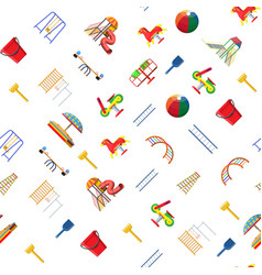 kids playground kindergarten seamless pattern vector image