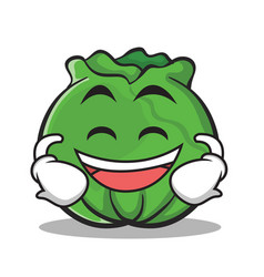 Laughing face cabbage cartoon character style vector