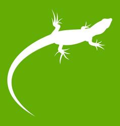 Lizard icon green vector