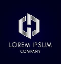 logo design h letter vector image