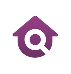logo house with letter q vector image