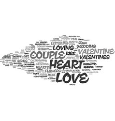 loving word cloud concept vector image