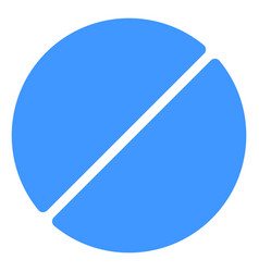 Medication tablet icon vector