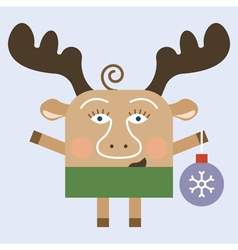 Merry Christmas deer vector image