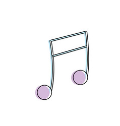 Musical note trhythm notation icon vector