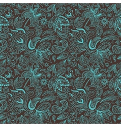 Paisley Ethnic Pattern vector image
