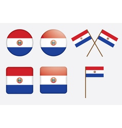 Paraguay Flag Badge vector image