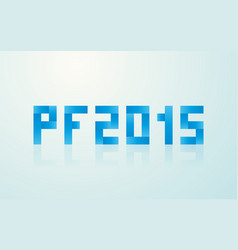 Pf 2015 made from rectangles vector