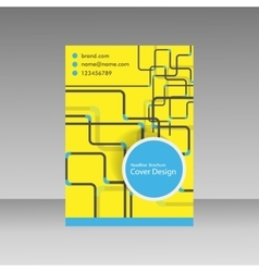 Pipe template brochure vector