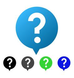 Question balloon flat gradient icon vector
