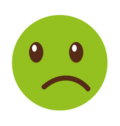 Sad emoticon face kawaii style vector