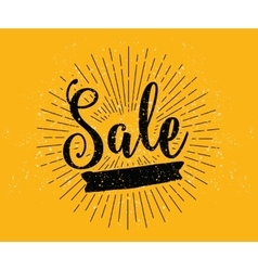 Sale Drawn lettering typography vector image