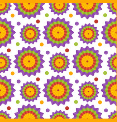 seamless pattern with garland flat icon vector image