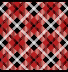 Seamless red tartan pattern with vector