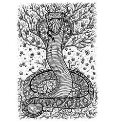 Snake symbol vector