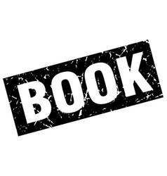 Square grunge black book stamp vector