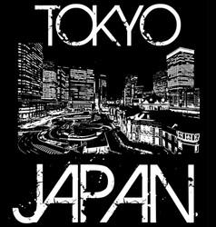 tokyo japan typography t-shirt graphics vector image