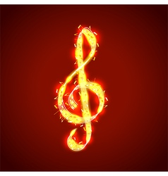 Treble clef of notes musical background vector