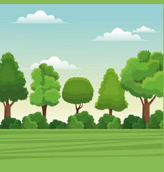 Tree forest natural landscape rural vector