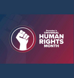 Universal human rights month holiday concept vector