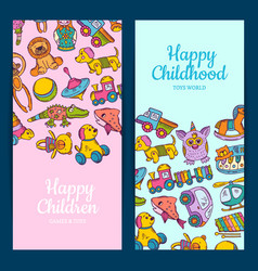 Vertical banner or flyer templates with kid vector