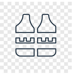 vest concept linear icon isolated on transparent vector image