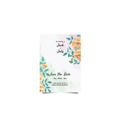 Wedding invitation and menu template water color h vector