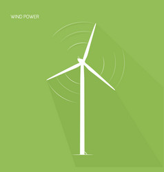 wind turbine tower green energy logo icon vector image