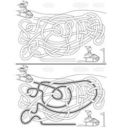 Winter maze vector image