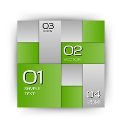 business squares green with text vector image vector image
