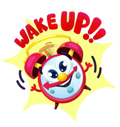 comical red alarm clock vector image vector image