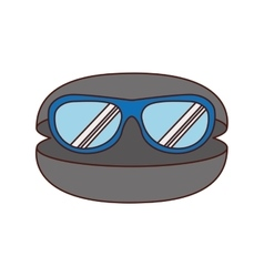 glasses vacations accesory icon vector image vector image