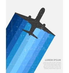 Image of high flying vector image