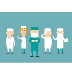 Medical professional occupation characters vector image vector image
