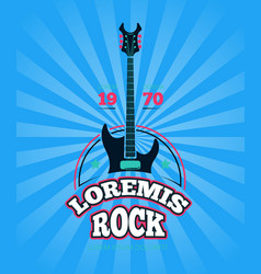 rock music club shop sound record studio vector image
