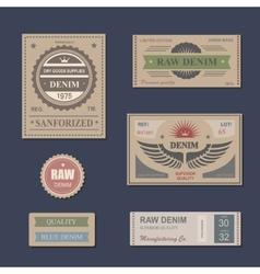 Vintage Labels denim typography t-shirt vector image vector image