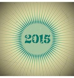 2015 retro sun green vector image