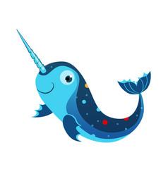 Blue marlin fish or swordfish sea tropical vector
